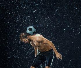 Rain football show Stock Photo 07