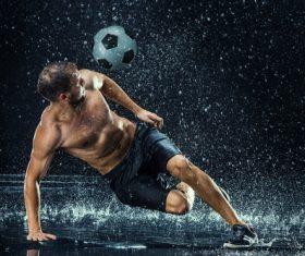 Rain football show Stock Photo 09