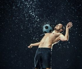 Rain football show Stock Photo 10