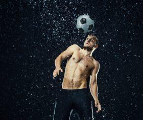 Rain football show Stock Photo 11