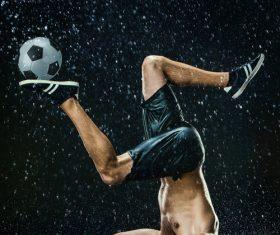 Rain football show Stock Photo 12