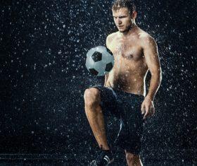Rain football show Stock Photo 13