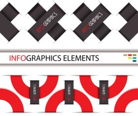 Red with black options infographic vectors 06