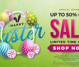 Sale background with easter egg design vector