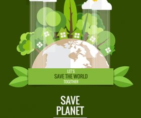 Save the world vector design