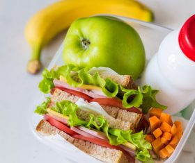 School lunch box Stock Photo 01