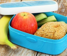 School lunch box Stock Photo 02