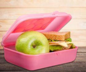 School lunch box Stock Photo 03