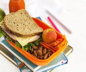 School lunch box Stock Photo 04