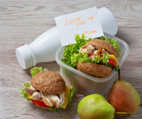 School lunch box Stock Photo 05