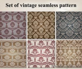 Set of vintage seamless pattern vectors 03