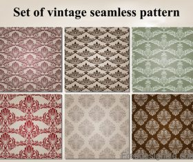 Set of vintage seamless pattern vectors 04
