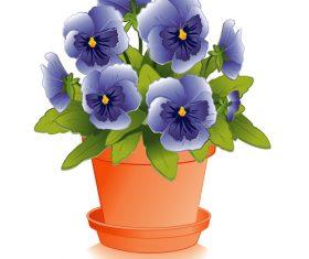 Skyblue flower illustration vector