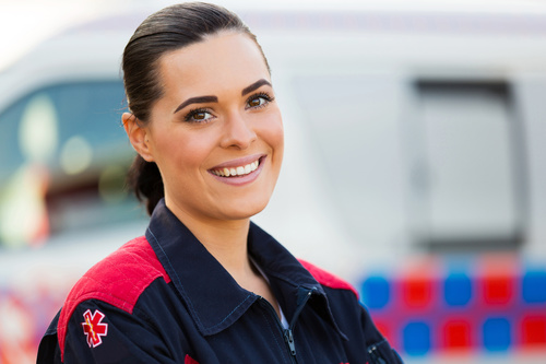 Smiling paramedics rescuers Stock Photo 01