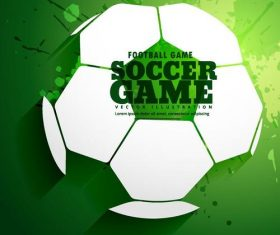 Soccer game backgroud illustration vector