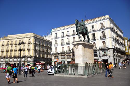 Spanish city architecture landscape Stock Photo 05