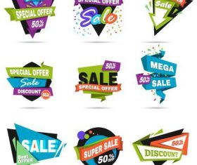 Special offer big sale labels vector