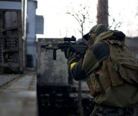 Special warfare player Stock Photo