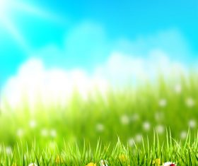 Spring outside grass mesh background vector