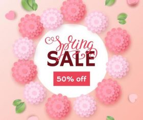Spring sale background creative design vector 04