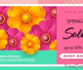 Spring sale background creative design vector 05