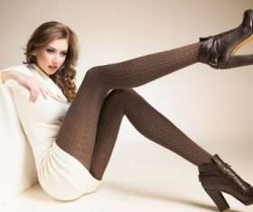 Stockings high heels beauty Stock Photo