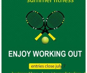 Tennis flyer temptlate vector design