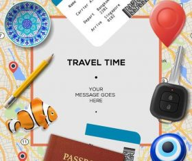 Travel time design vectors material