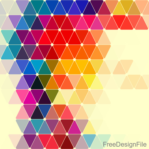 Triangle colored background vector material