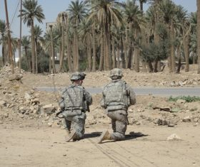 Two guarded soldiers Stock Photo