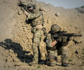 Two special warfare players Stock Photo