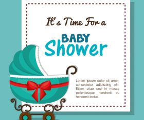 Vector baby shower card template design 01
