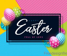 Vector easter card with colored egg vector