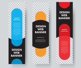 Vertical banners template illustration design vector 01