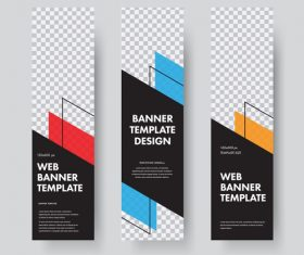 Vertical banners template illustration design vector 02