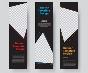 Vertical banners template illustration design vector 03