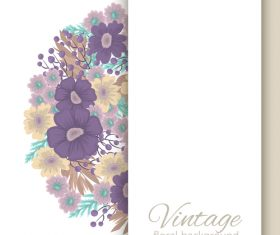 Vintage floral background design vectors 01