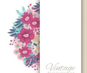 Vintage floral background design vectors 02