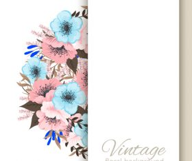 Vintage floral background design vectors 03