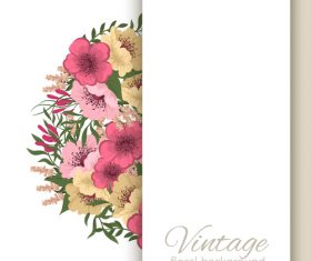 Vintage floral background design vectors 04