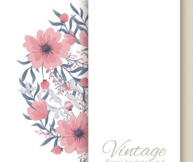 Vintage floral background design vectors 05