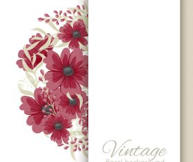 Vintage floral background design vectors 06