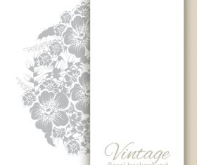 Vintage floral background design vectors 07