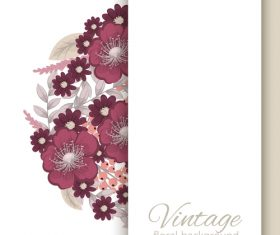 Vintage floral background design vectors 08