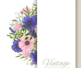Vintage floral background design vectors 09