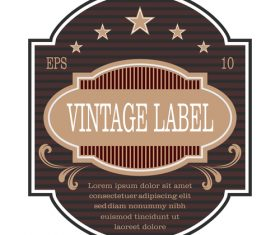 Vintage with retro labels template vectors 01