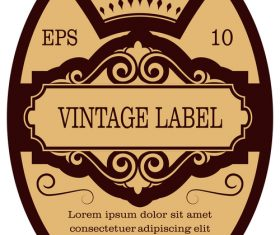 Vintage with retro labels template vectors 02