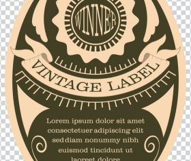 Vintage with retro labels template vectors 03