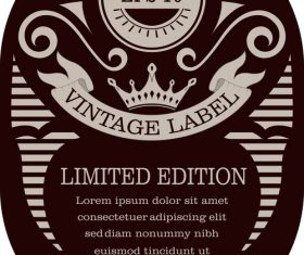 Vintage with retro labels template vectors 04