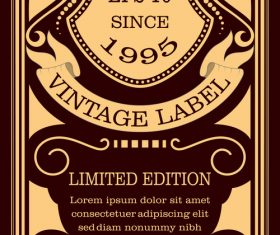 Vintage with retro labels template vectors 05